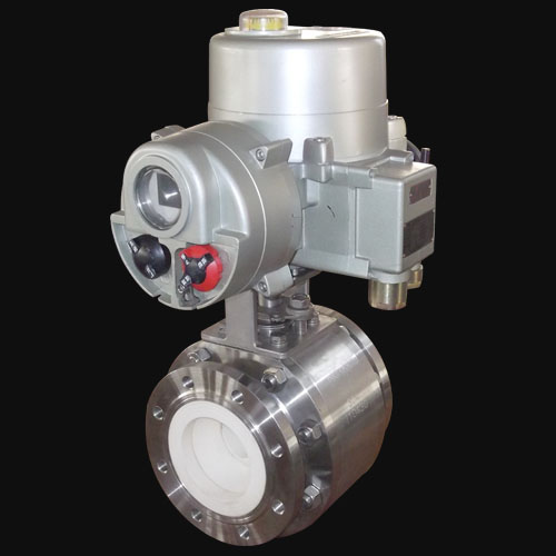 motor operated v port ceramic ball valve
